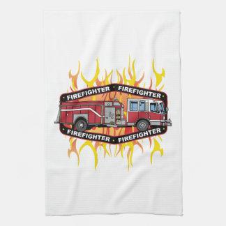 Firefighter Fire Truck Kitchen Towel