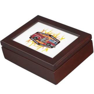 Firefighter Fire Truck Memory Boxes