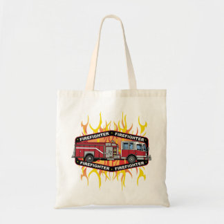 Firefighter Fire Truck Tote Bag
