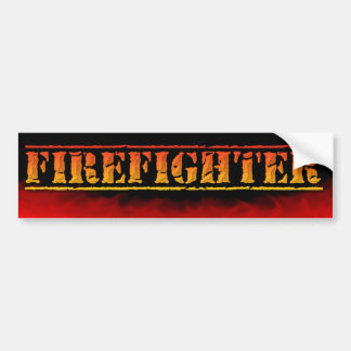 FIREFIGHTER FIREMAN BURNING FLAMES Bumper Sticker