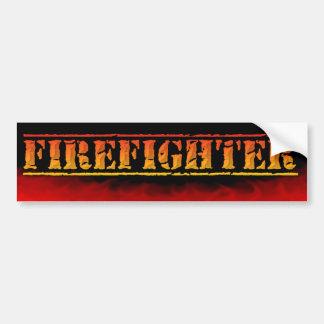 FIREFIGHTER FIREMAN BURNING FLAMES Bumper Sticker