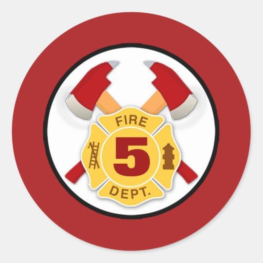 Fire Department Maltese Cross Custom VVV Shield Classic Round