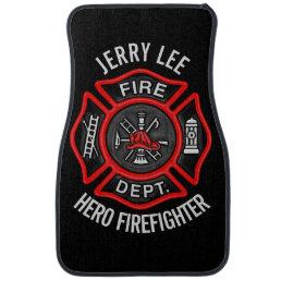 Firefighter Fireman Personalized Car Floor Mat