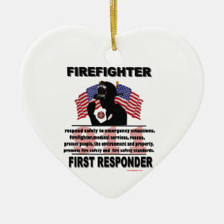 FireFighter_First_Responder Ceramic Ornament