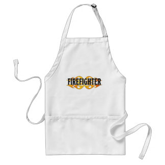Firefighter Flames Adult Apron