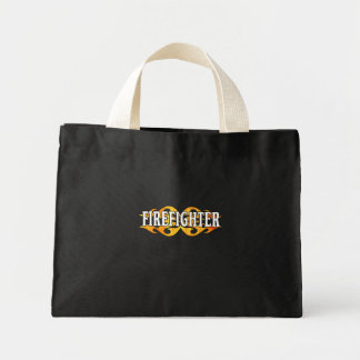 Firefighter Flames Canvas Bag