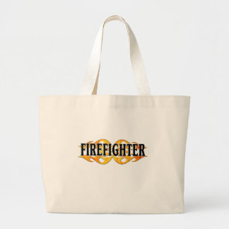 Firefighter Flames Tote Bags