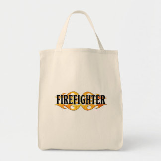 Firefighter Flames Canvas Bags