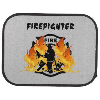 Firefighter Flames Floor Mat