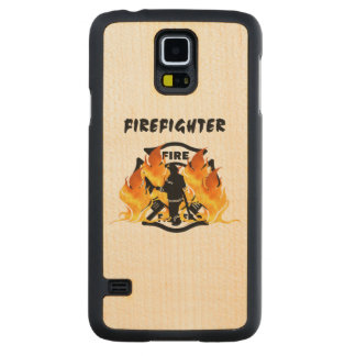 Firefighter Flames Carved® Maple Galaxy S5 Slim Case