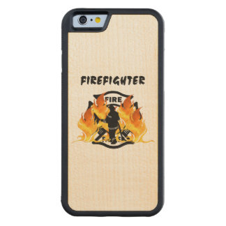 Firefighter Flames Carved® Maple iPhone 6 Bumper