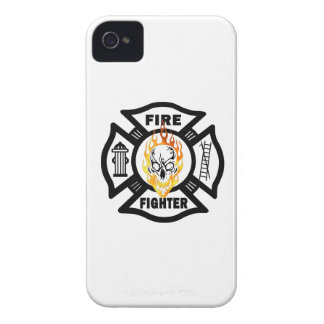 Firefighter Flaming Skull iPhone 4 Case