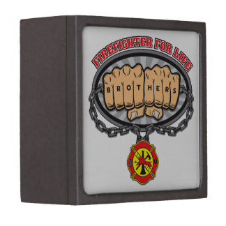 Firefighter for Life Premium Jewelry Boxes