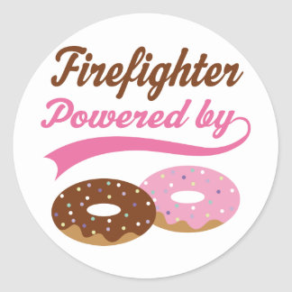 Firefighter Funny Gift Round Sticker