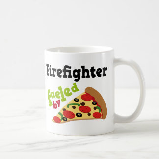Firefighter (Funny) Pizza Coffee Mug