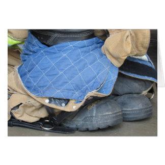 Firefighter gear blank card