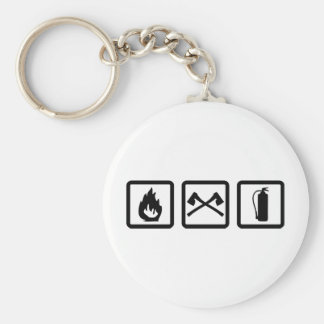 firefighter gear keychain