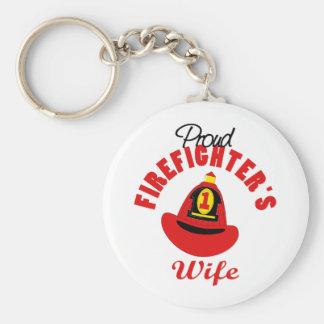 Firefighter Gift Basic Round Button Keychain