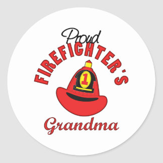 Firefighter Gift Classic Round Sticker