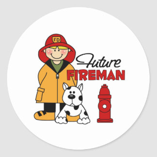 Firefighter Gifts Classic Round Sticker