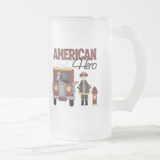 Firefighter Gifts 16 Oz Frosted Glass Beer Mug
