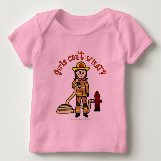 Firefighter Girl Baby T-Shirt