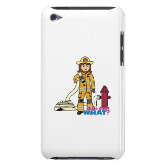 Firefighter Girl Barely There iPod Cover