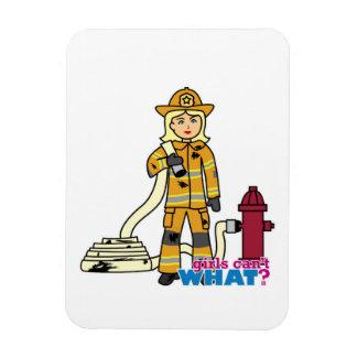 Firefighter Girl - Blonde Vinyl Magnet