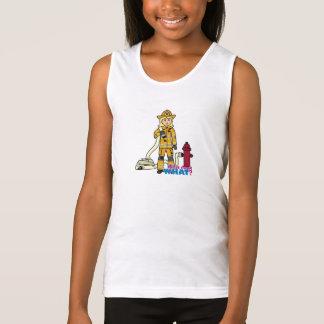 Firefighter Girl - Blonde Tank Top
