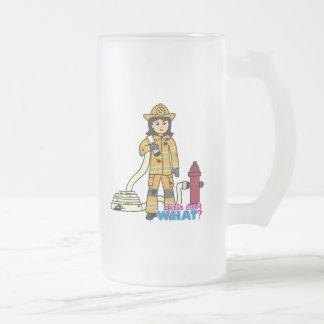 Firefighter Girl - Brunette Coffee Mugs