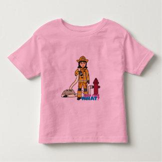 Firefighter Girl - Brunette Toddler T-shirt