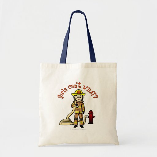 Firefighter Girl Budget Tote Bag