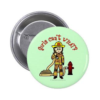 Firefighter Girl Button