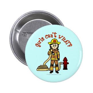 Firefighter Girl Pins