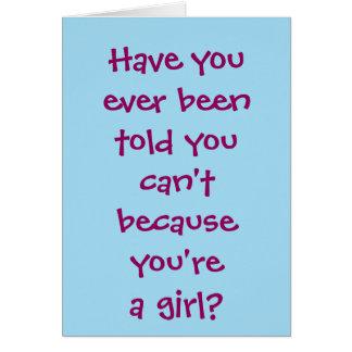 Firefighter Girl Greeting Card