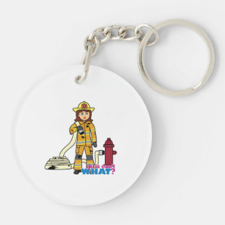 Firefighter Girl Keychain