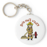 Firefighter Girl Keychains