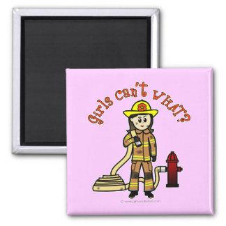 Firefighter Girl Refrigerator Magnet