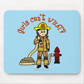Firefighter Girl Mouse Pad