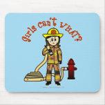 Firefighter Girl Mousepads