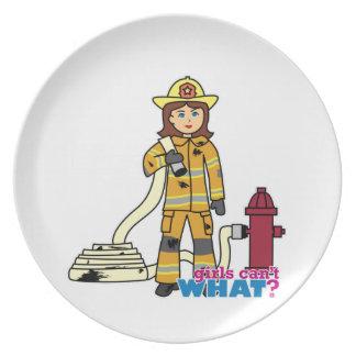 Firefighter Girl Plate