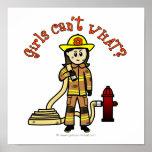 Firefighter Girl Poster