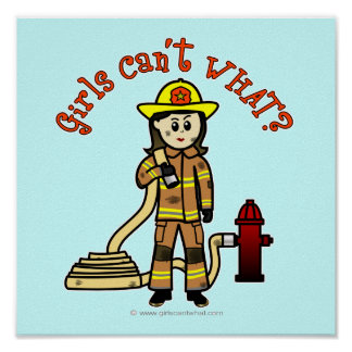 Firefighter Girl Posters