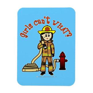 Firefighter Girl Vinyl Magnets