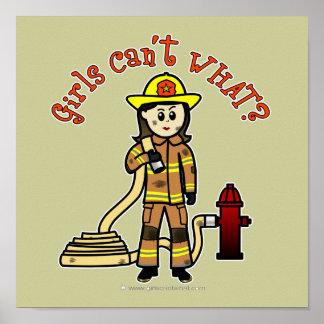 Firefighter Girl Print