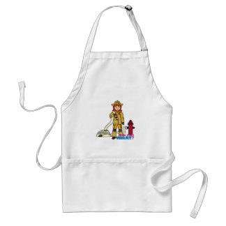 Firefighter Girl - Red Adult Apron