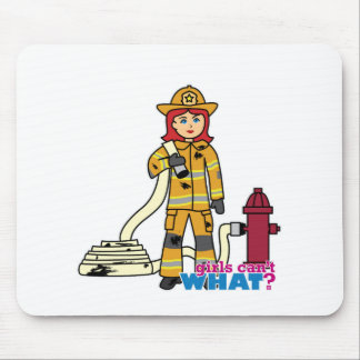 Firefighter Girl - Red Mouse Pad