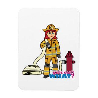 Firefighter Girl - Red Flexible Magnet