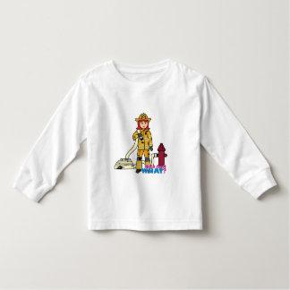 Firefighter Girl - Red Toddler T-shirt