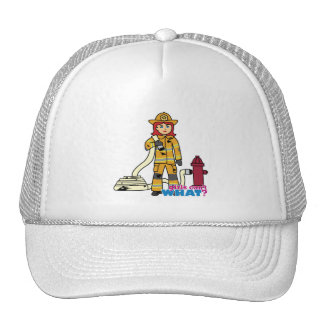 Firefighter Girl - Red Trucker Hats